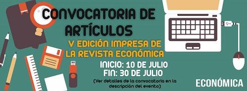 Bases para la V Convocatoria de Propuestas de Artículos en Económica